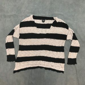Slouchy striped sweater